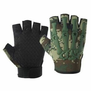 Men Army Military Tactical Half Finger Gloves Outdoor Motorcycle Hunting Mittens