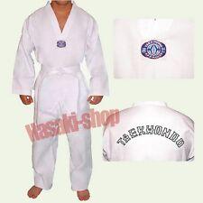 "Kimono Dobok de Taekwondo 110 cm ""NEUF"" Broderie au dos"