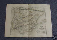 Map of SPAIN & PORTUGAL circa 1860, by Archer