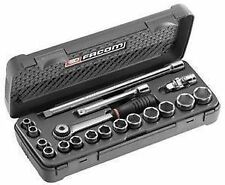 FACOM TOOL 3/8 DRIVE 8MM - 22MM SOCKET RATCHET EXTENSION & ACCESSORY KIT