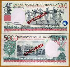 SPECIMEN, Rwanda, 5000 Francs, 1998, P-28 (28s) UNC