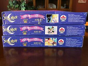 Sailor Moon Vintage 90s 3 Puzzle Set ~ Tuxedo Mask ~ Scouts ~ Bundle and Save!