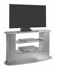 Mesa television salon mueble auxiliar TV gris moderno contemporaneo 132x69x45