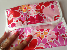 Clinique large  Make up Bag in pink, whit & red floral - new , great ladies gift