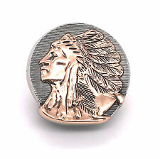 "Left Facing Chief Head Concho Antique Nickel w/Rose Gold 1-1/4"" 3665-31"