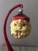 Vintage Blown Glass Santa Claus Christmas Ornament