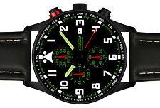ASTROAVIA PILOT No.1L BLACK EDITION 6 ZEIGER CHRONOGRAPH XL 42 mm FLIEGERUHR