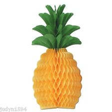 PKT 2 HONEYCOMB PINEAPPLE CENTREPIECE LUAU HAWAIIAN PARTY TABLE DECORATION 30CM