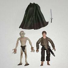 Herr der Ringe Actionfiguren Gollum & Sam - Marvel 2003 & Toy Biz 2005