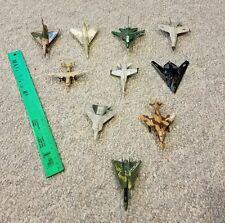 Lot of 10 Die Cast Metal Military Airplanes Very Nice