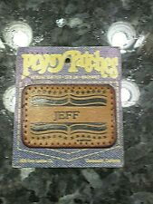 Vintage Name Patch Jeff Pony Patches Genuine Leather Sew On Washable
