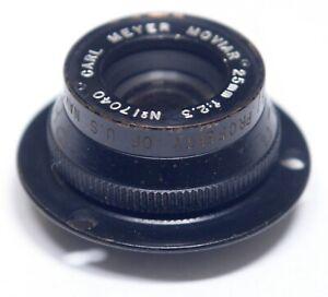 Carl Meyer Moviar 25mm f/2.3 Vintage Lens with Mount Ring