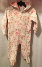 Laura Ashley Baby 6-9 Mos. Pink/Rose/Grey Front Zip Hood Hand Warmers Full Suit