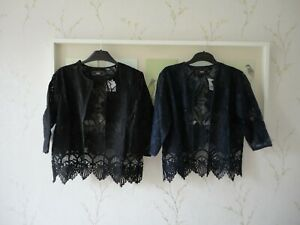 Next Womens Occasion Lace Cover Up Cardi Black or Navy  Size S M L BNWT FREEPOST