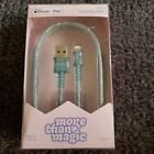 New 6' Charging Cable for iPhone or iPad Mint Glitter - More Than Magic