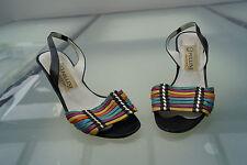 POLLINI Damen Sommer Schuhe Pumps High Heels Italy Gr.37 bunt Leder Absatz #44