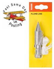 Bob tradicional 5oz Metal Plumb ciruela y decoración de construcción de línea de 15 pies 15'