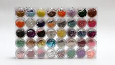 80 Colours Pots Glitter Dust Powder Set Nail Art Decoration