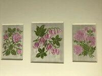 Kensitas Cigaretts Silk Flowers Bleeding Heart- Moss Rose-Sweet Sultan w/Sleeve