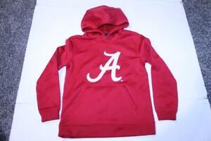 Youth Alabama Crimson Tide S (8) Athletic Hoodie Hooded Sweatshirt (Red) Genuine