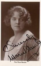 Miss Marie Blanche Actress Cinema Signed Autographed original RP postcard