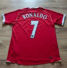 Vintage Original Manchester United RONALDO #7 2006/07 Home football shirt - L