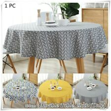 Practical Home Supply Round Table Cloth Home Kitchen Dining Tablecloth