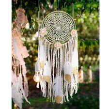 Handmade Feather Macrame Dream Catchers Bedroom Wall Ornament Car Hanging Decor