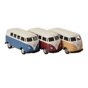 Modellauto VW T1 Bus 1963 Bulli Volkswagen Welly 1:60 Bully Lizenz Surfer Mini