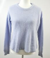Shein Cropped Sweater Size Small Blue Chunky Knit