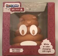 New Illumi-Mate Kids Portable Emoji Led Bedside Nightlight Light Lamp Mr Poo