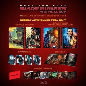 Blade Runner Blu-ray Steelbook Manta Lab Double Lenticular Full Slip Pre-Order