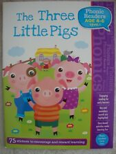 Phonic Readers Book - The Three Little Pigs - For Children Aged 4-6 Brand New