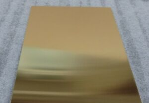 Traditional Brass Sheet Metal  A4 Size, 300mm x 210mm - Many Thickness'