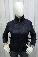 BURBERRY LONDON Donna Taglia L Giubbotto Blu Giubbino Jacket Coat Giacca Woman