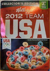 Kellogg's 2012 Team USA Cereal Full Box 2012 Olympics