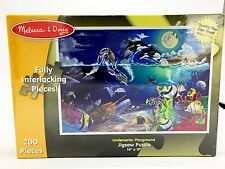 Melissa & Doug Puzzle Underwater Playground Orca Dolphin Sea Turtles 200 PC New