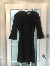 Hugo Boss Huliana Bellsleeve Black Office Work Dress UK 10 Brand New RRP £300