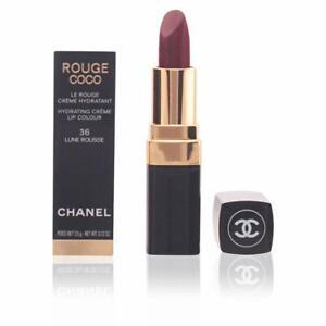 CHANEL ROUGE COCO Hydrating Creme Lip Colour 36LUNEROUSSE NIB + Black CC Pouch