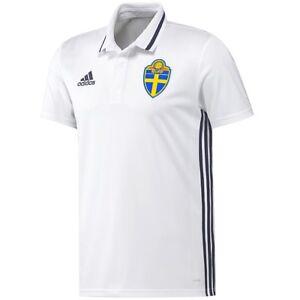 Adidas Men's Polo Shirt Sweden Sport Casual Outdoor Functional White