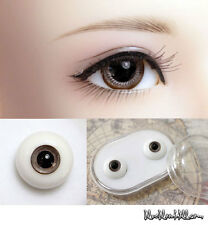 1/3 1/4 1/6 bjd 16mm brown glass doll eyes with box dollfie luts #EB-24 ship US