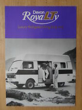 VOLKSWAGEN LT ROYALTY by DEVON 1970s UK Mkt Sales Leaflet Brochure - VW