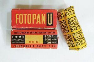 Fotopan U 120 roll (2 expired film) rolls Feb 1969 Foton Warszawa Made in Poland