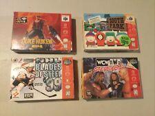 Nintendo N64 Box only lot WCW, South Park, Duke Nukem, NHL