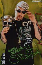 Sido-autografiada mapa-autógrafo fan colección recortes