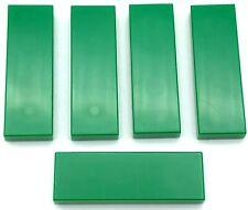 Lego 5 New Green Tiles 1 x 3 Flat Smooth Pieces