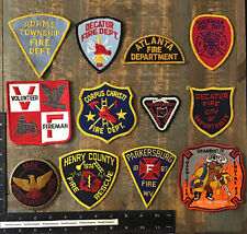 LOT OF 12 VINTAGE FIRE DEPARTMENT PATCHES
