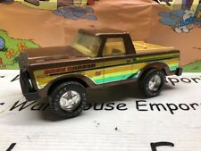 Vintage NYLINT Ford Bronco BASS CHASER Metallic Brown Toy Pickup Truck