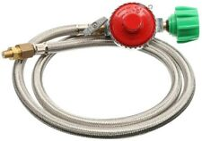 Hose High-Pressure 4 ft. Long Stainless Steel with 10 PSI Pre-Set Regulator
