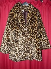 womans faux fur animal print coat with over elbow animal print sexy gloves TV